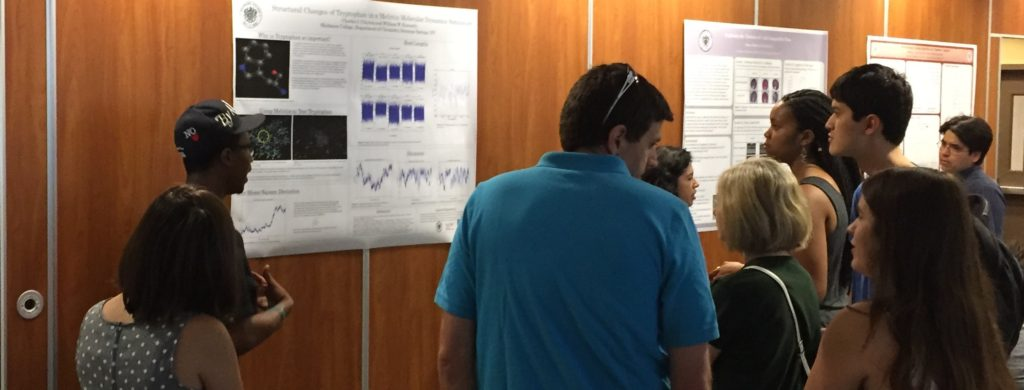 Not many people have the guts to present a science poster wearing a baseball cap. At least it wasn't the Red Sox.